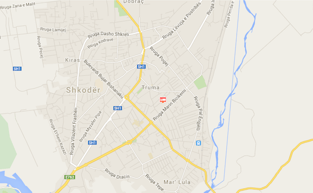 Shkoder-Backpackers-Hostel-Map