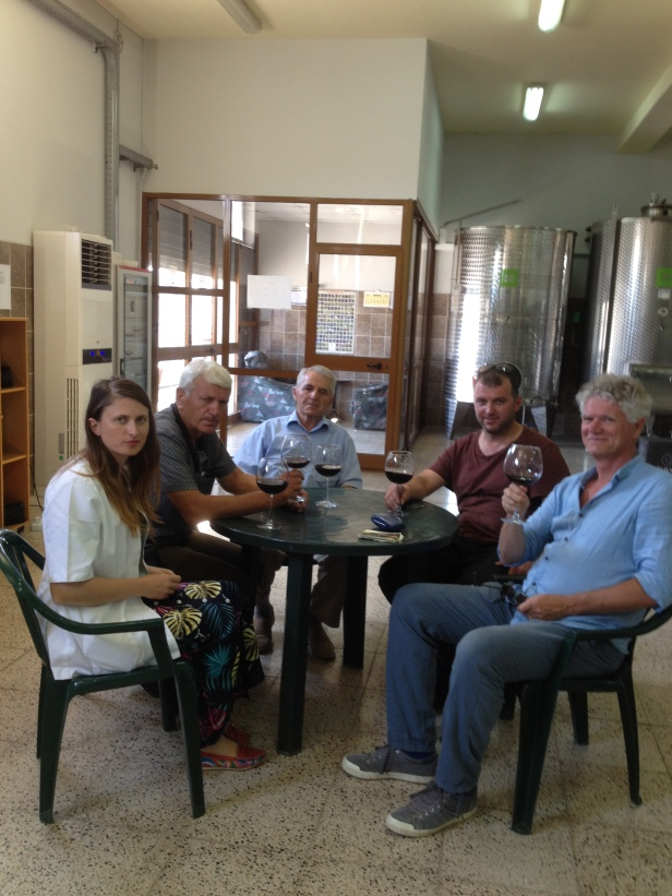 Visitors on the wine tasting